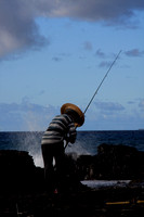 Sandy Beach Fisherman